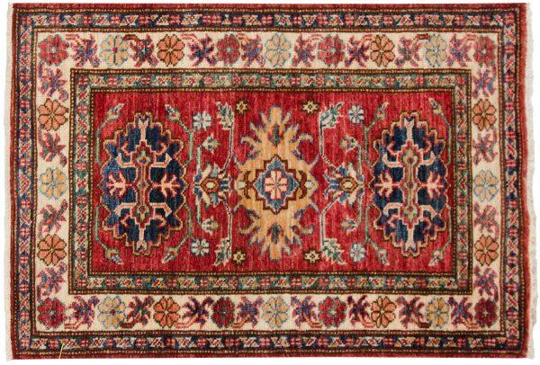 2x3 kazak red oriental rug 048853