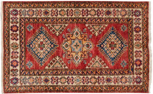 2x3 kazak red oriental rug 048854