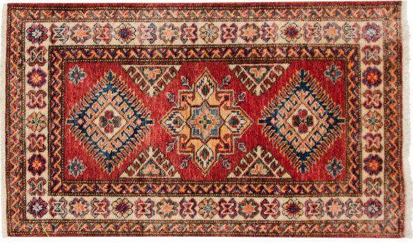 2x3 kazak red oriental rug 048856