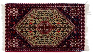 2×3 Persian Abadeh Oriental Beige Hand-Knotted Rug