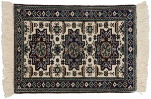 2×3 Persian Ardebil Oriental Ivory Hand-Knotted Rug