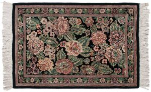 2×3 Persian Oriental Black Hand-Knotted Rug