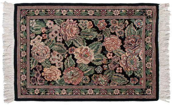 2x3 persian black oriental rug 025803