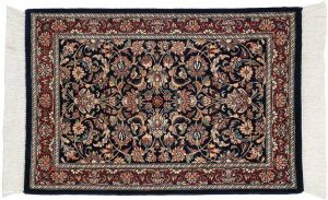 2×3 Persian Oriental Blue Hand-Knotted Rug