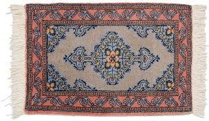2×3 Persian Katbaft Oriental Grey Hand-Knotted Rug