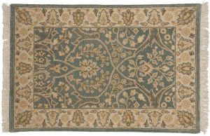 2×3 Tabriz Oriental Blue Hand-Knotted Rug