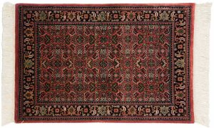 2×3 Tabriz Oriental Red Hand-Knotted Rug