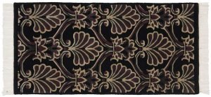 2×4 Arts & Crafts Oriental Black Hand-Knotted Rug
