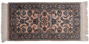 2×4 Isfahan Oriental Rose Hand-Knotted Rug