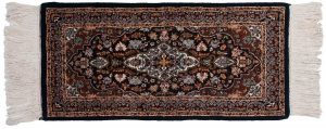 2×4 Kashan Oriental Blue Hand-Knotted Rug