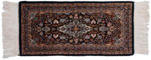 2×4 Kashan Oriental Blue Hand-Knotted Rug