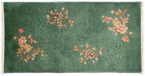 2×4 Nichols Oriental Green Hand-Knotted Rug