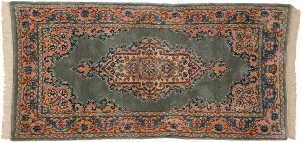 2x4 persian kerman green oriental rug 026450