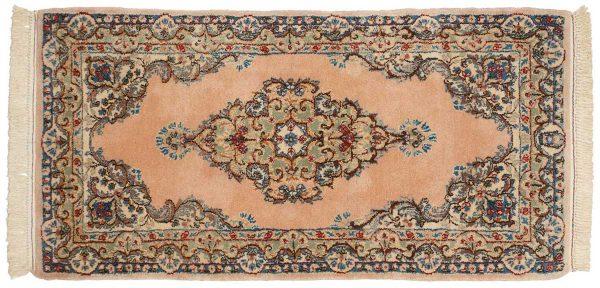 2x4 persian kerman peach oriental rug runner 017322