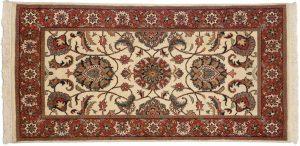 2×4 Tabriz Oriental Beige Hand-Knotted Rug