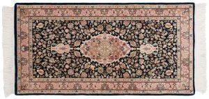2×4 Tabriz Oriental Blue Hand-Knotted Rug
