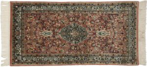 2×4 Tabriz Oriental Rust Hand-Knotted Rug
