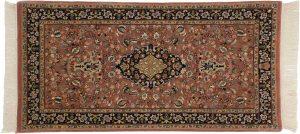 2×4 Tabriz Oriental Rust Hand-Knotted Rug