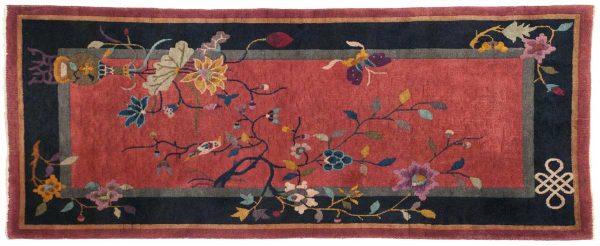 2x5 nichols rose oriental rug 014039