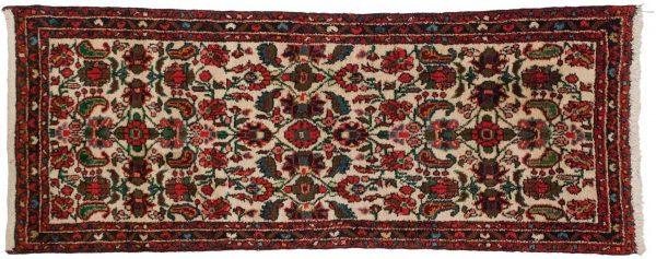 2x5 persian dargezine ivory oriental rug 034818