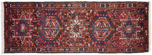 2x5 persian karaja red oriental rug runner 034841