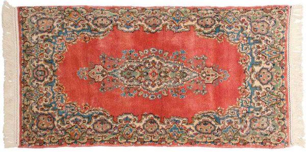 2x5 persian kerman rose oriental rug 017328
