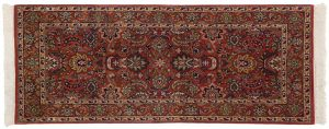 2×5 Sarouk Oriental Red Hand-Knotted Rug