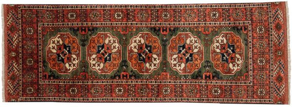 2x6 ersari rust oriental rug runner 048862