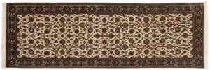 2×6 Kashan Oriental Ivory Hand-Knotted Rug