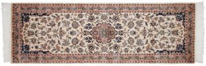 2×6 Vintage Persian Oriental Ivory Hand-Knotted Rug Runner