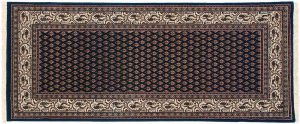 2×6 Sarouk Oriental Blue Hand-Knotted Rug Runner