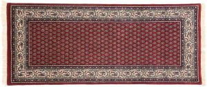 2×6 Sarouk Oriental Red Hand-Knotted Rug Runner