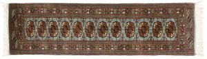 2×7 Vintage Bokhara Oriental Blue Hand-Knotted Rug Runner