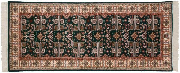 2x7 caucasian green oriental rug runner 016712