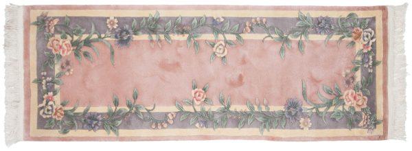 2x7 floral rose oriental rug runner 028707