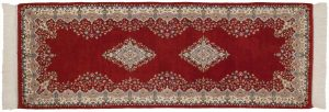 2×7 Vintage Kerman Oriental Red Hand-Knotted Rug Runner