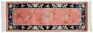 2×7 Vintage Peking Oriental Rust Hand-Knotted Rug Runner