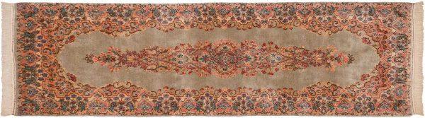2x7 persian kerman silver oriental rug runner 017359