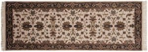 2×7 Sultanabad Oriental Ivory Hand-Knotted Rug Runner