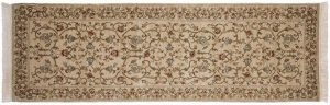 2×8 European Oriental Ivory Hand-Knotted Rug Runner