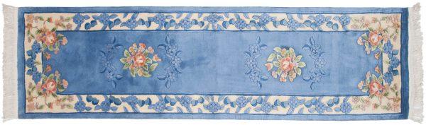 2x9 aubusson blue oriental rug runner 018515