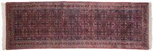 2×9 Bijar Oriental Red Hand-Knotted Rug Runner