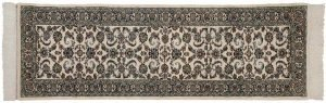 2×9 Isfahan Oriental Ivory Hand-Knotted Rug Runner