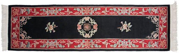 2x9 peking black oriental rug runner 018053