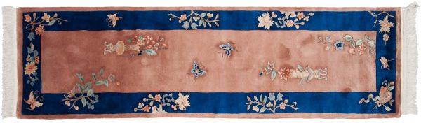 2x9 peking peach oriental rug runner 028605