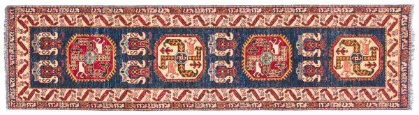3x10 caucasian blue oriental rug runner 026198