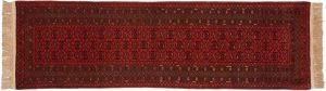 3×10 Vintage Daulatabad Oriental Red Hand-Knotted Rug Runner