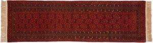 3×10 Vintage Daulatabad Oriental Red Hand-Knotted Rug Runner