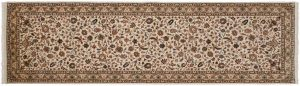 3×10 Isfahan Oriental Ivory Hand-Knotted Rug Runner