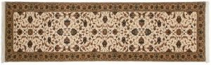 3×10 Kashan Oriental Ivory Hand-Knotted Rug Runner